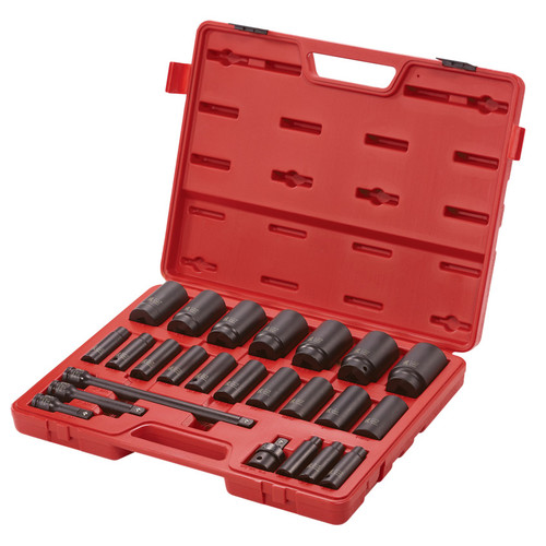 Sunex 2824 1/2 in. Drive 24 Piece SAE 6 Pt Deep Impact Socket Set image number 0