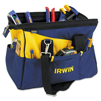 Irwin 4402020 Contractors Zippered Tool Bag, 16in