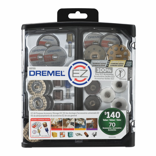 Dremel EZ725 70-Piece EZ All-Purpose Rotary Tool Accessory Kit