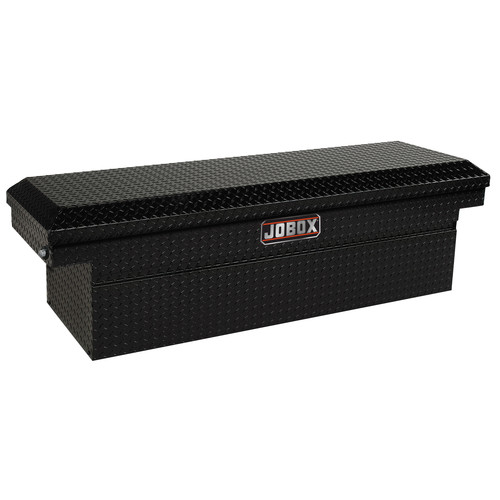 JOBOX JAC1387982 Aluminum Single Lid Deep Full-size Crossover Truck Box (Black)
