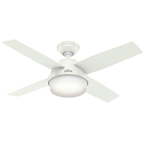 Hunter 59246 44 in. Dempsey Fresh White Ceiling Fan with Light and Remote