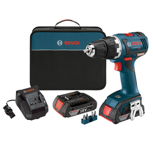 Factory Reconditioned Bosch DDS182-02-RT 18V Lithium-Ion Brushless Compact Tough 1/2 in. Cordless Drill Driver Kit (2 Ah) image number 0