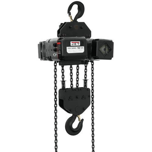 JET VOLT-1000-13P-15 10 Ton 1-Phase/3-Phase 230V Electric Chain Hoist with 15 ft. Lift