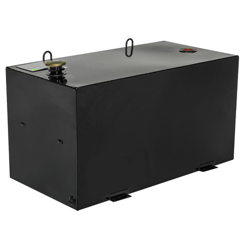JOBOX 484002 96 Gallon Rectangular Steel Liquid Transfer Tank - Black image number 0