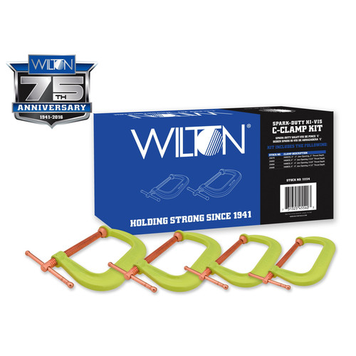 Wilton 11114 Spark-Duty 400CS Hi-Vis C-Clamp Kit