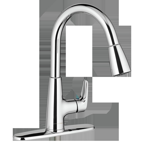American Standard 7074.300.002 Colony PRO Single Hole Kitchen Faucet with Pull-Down Spray (Polished Chrome)