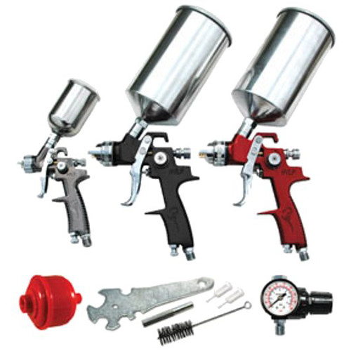 ATD 6900 9-Piece HVLP Spray Gun Set image number 0