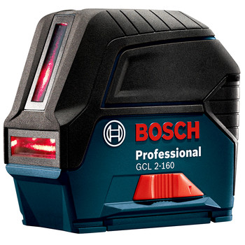 Factory Reconditioned Bosch GCL2-160S-RT Self-Leveling Cross Line Laser with Plumb Points image number 0