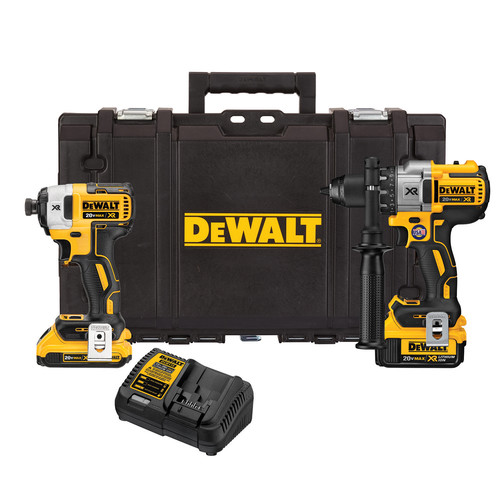 Factory Reconditioned Dewalt DCKTS291D1M1R 20V MAX XR Drill/Driver and Impact Driver Combo Kit with Tough System Case image number 0