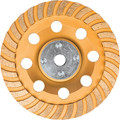 Makita A-98871 1 5 in. Low-Vibration Diamond Cup Wheel, Turbo
