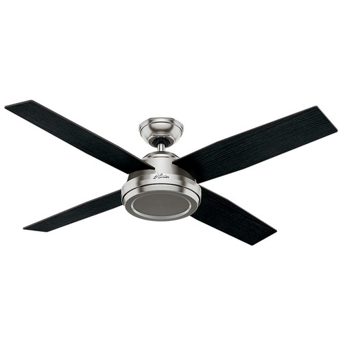 Hunter 59249 52 in. Dempsey Brushed Nickel Ceiling Fan with Remote