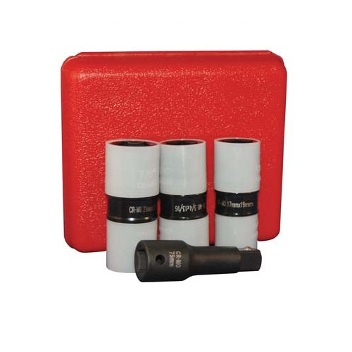 ATD 4354 4-Piece 1/2 in. Drive Protective Wheel Nut Flip Impact Socket Set