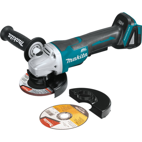 "Makita XAG11Z 18V LXT Lithium-Ion Brushless Cordless 4-1/2"" / 5 in. Paddle Switch Cut-Off/Angle Grinder, with Electric Brake, Tool Only"