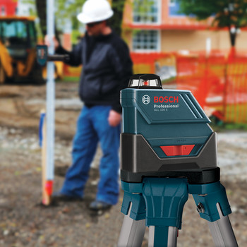 Bosch GLL-150-ECK Self-Leveling 360 Degree 500 ft. LR3 Exterior Laser Kit image number 6