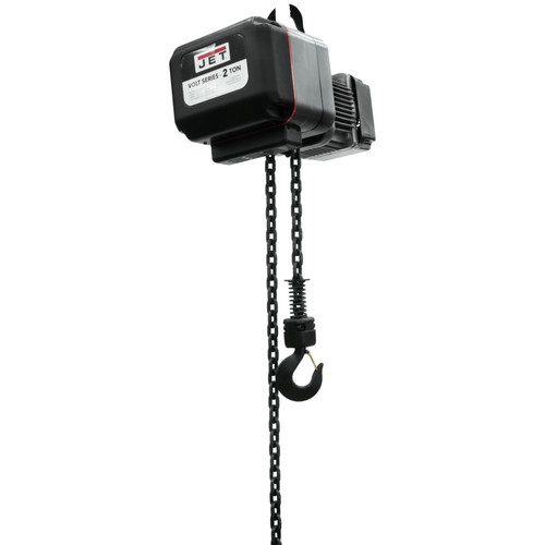 JET VOLT-200-13P-15 2 Ton 1-Phase/3-Phase 230V Electric Chain Hoist with 15 ft. Lift