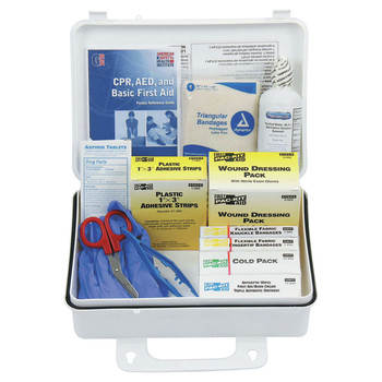 Pac-Kit 6430 25-Person Weatherproof Plastic, Wall Mount ANSI Plus First Aid Kits