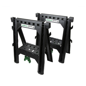 Metabo HPT 115445M 27 In. Plastic Sawhorse (2-Pack)