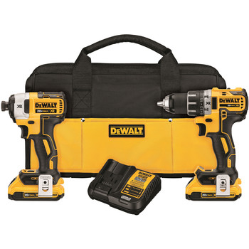 Dewalt DCK283D2 20V MAX XR Compact Brushless Lithium-Ion Cordless Drill/Driver and Impact Driver Combo Kit (2 Ah)