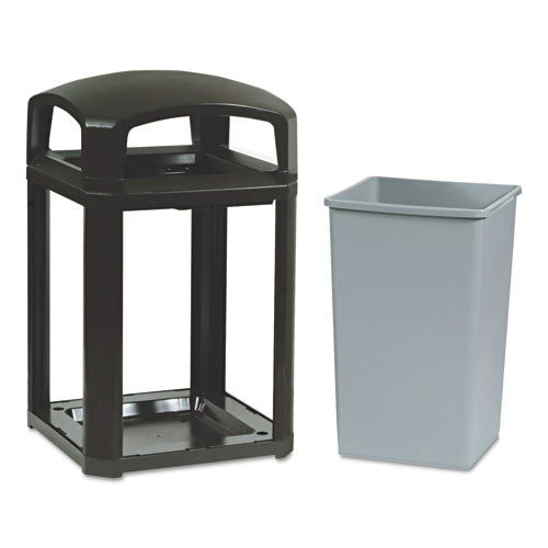 Rubbermaid 3970SAB Landmark 35 Gal. Classic Dome Top Container (Sable)