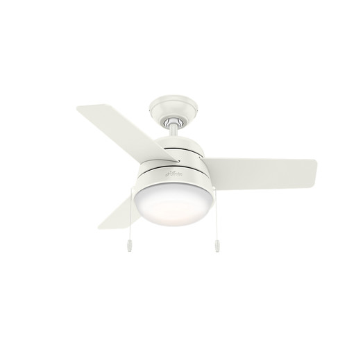 Hunter 59301 36 in. Aker Fresh White Ceiling Fan with Light
