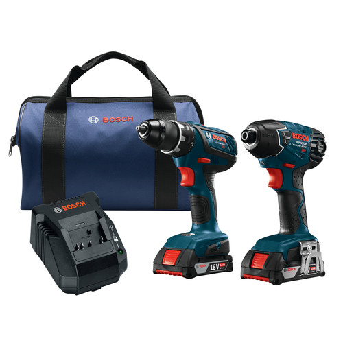 Bosch CLPK232A-181 18V 2.0 Ah Cordless Lithium-Ion Impact Driver and Drill Driver Combo Kit