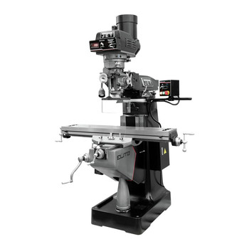 JET 894355 EVS-949 Mill with 2-Axis Newall DP700 DRO and X, Z-Axis JET Powerfeeds and USA Made Air Draw Bar