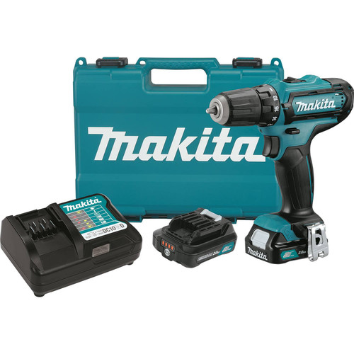 Makita FD05R1 12V max CXT 2.0 Ah Cordless Lithium-Ion 3/8 in. Drill Driver Kit