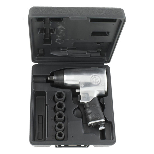 Chicago Pneumatic 734HK 1/2 in. Dr Air Impact Wrench Kit 5-Piece
