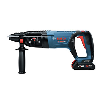 Bosch GBH18V-26DK15 18V EC Brushless SDS-Plus Bulldog 1 in. Rotary Hammer Kit with CORE18V 4.0 Ah Compact Battery image number 2