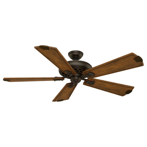 Casablanca 55035 Fellini 60 in. Transitional Brushed Cocoa Walnut Regal-Style Carved Wood Indoor Ceiling Fan