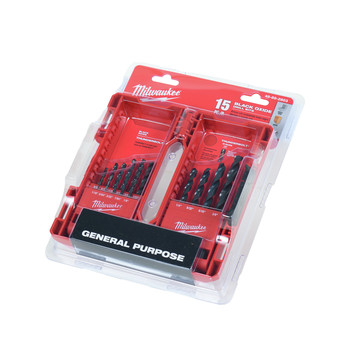Milwaukee 48-89-2803 15 Pc Thunderbolt Black Oxide Drill Bit Set