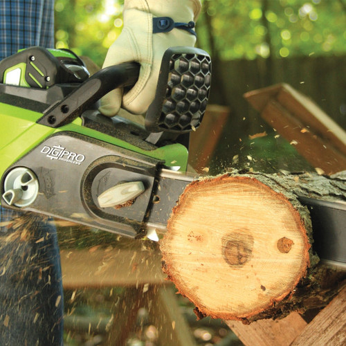 Greenworks 20322 40V G-MAX Lithium-Ion DigiPro Brushless 16 in. Chain Saw (Tool Only) image number 1