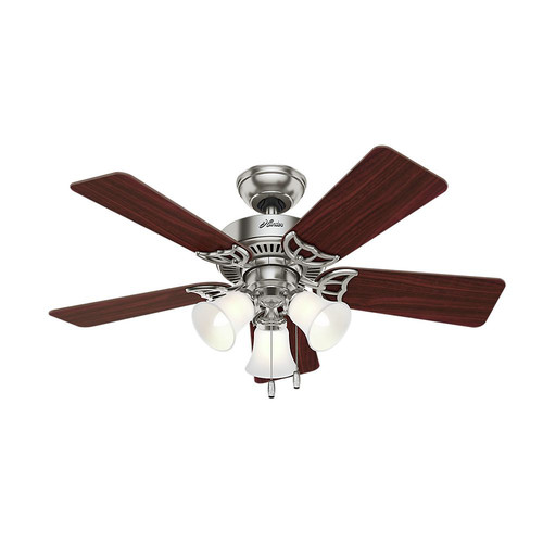 Hunter 51011 42 in. Southern Breeze Brushed Nickel Ceiling Fan with Light