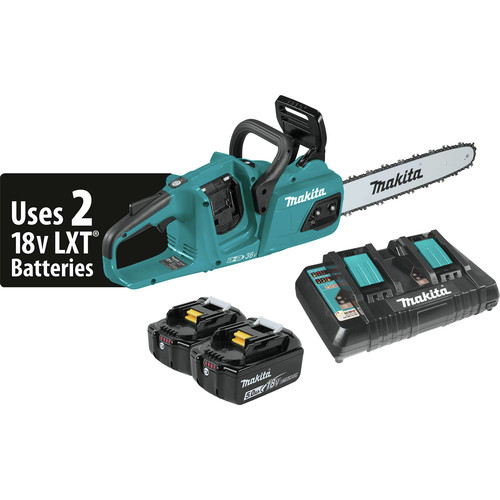 Makita XCU07PT 18V X2 (36V) LXT Lithium-Ion 5.0 Ah Brushless 14 in. Chain Saw Kit
