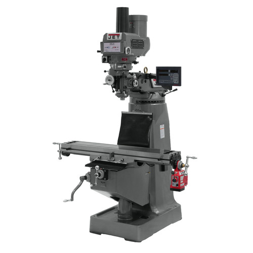JET JTM-4VS Mill with Newall DP700 DRO and X-Axis Powerfeed & Power Draw Bar image number 0