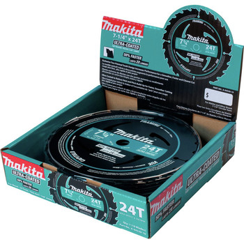 Makita A-94530-10 7-1/4 in. 24T Carbide-Tipped Ultra-Coated Framing Saw Blades (10-Pack)