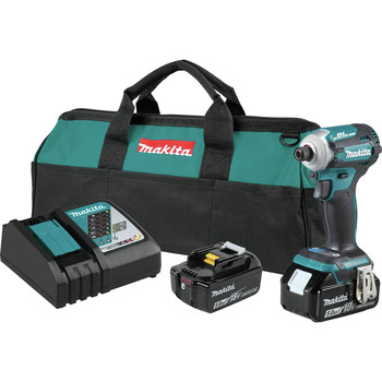 Makita XDT16T 18V LXT Lithium-Ion Brushless Cordless Quick-Shift Mode 4-Speed Impact Driver Kit (5 Ah)