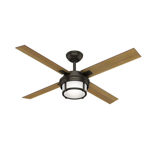Hunter 59317 52 in. Maybeck Premier Bronze Ceiling Fan with Light with Handheld Remote