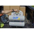 Quipall 4-1-SILTWN-AL 4.6 Gallon 1 HP Aluminum Twin Stack Ultra Quiet and Oil Free Compressor image number 12