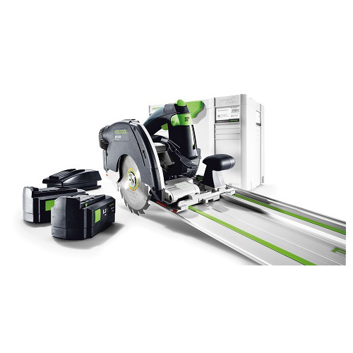 Festool HKC 55 EB Set 18V 5.2 Ah Cordless Lithium-Ion 6-1/4 in. Circular Saw Kit with Guide Rail
