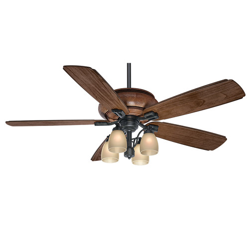 Casablanca 55051 60 in. Heathridge Aged Steel Ceiling Fan with Light and Remote