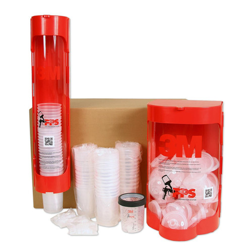 3M 16159 75-Piece PPS 13.5 oz. Midi 200 Micron Lid/Liner Dispenser Kit