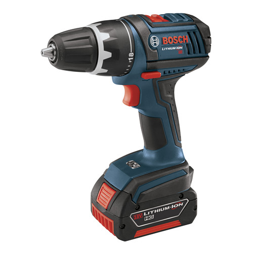 Factory Reconditioned Bosch DDS181-01-RT 18V Lithium-Ion Compact Tough 1/2 in. Drill Driver with 2 Fat Pack HC Batteries