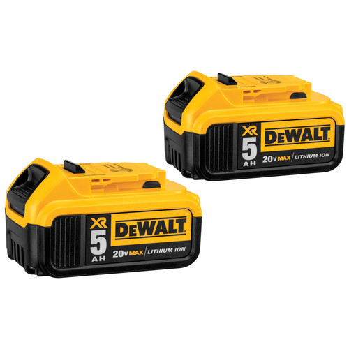 Dewalt DCB205-2 20V MAX XR Premium 5 Ah Lithium-Ion Battery (2-Pack) image number 0