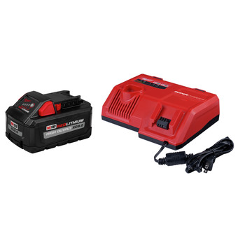 Milwaukee 48-59-1880SC M18 REDLITHIUM HIGH OUTPUT XC8.0 Super Charger Starter Kit