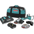 Makita XAG13PT1 18V X2 LXT Lithium-Ion (36V) Brushless Cordless 9 in. Paddle Switch Cut-Off/Angle Grinder Kit with Electric Brake image number 0