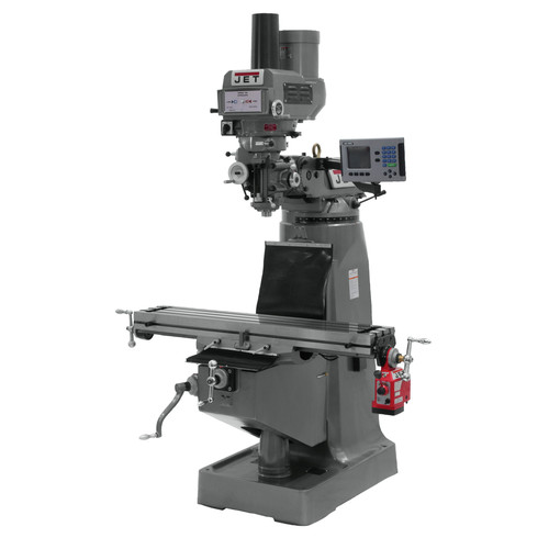 JET JTM-4VS Mill with ACU-RITE 200S DRO and X-Axis Powerfeed & Power Draw Bar