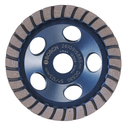 Bosch DC530 5 in. Turbo Row Diamond Cup Wheel image number 0