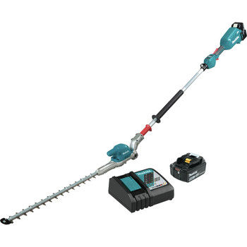 Makita XNU01T 18V LXT Articulating Brushless Lithium-Ion 20 in. Cordless Pole Hedge Trimmer Kit (5 Ah)
