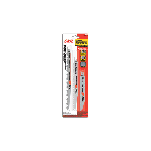 Skil 94903 3-Piece Ugly Reciprocating Saw Blade Multi Pack